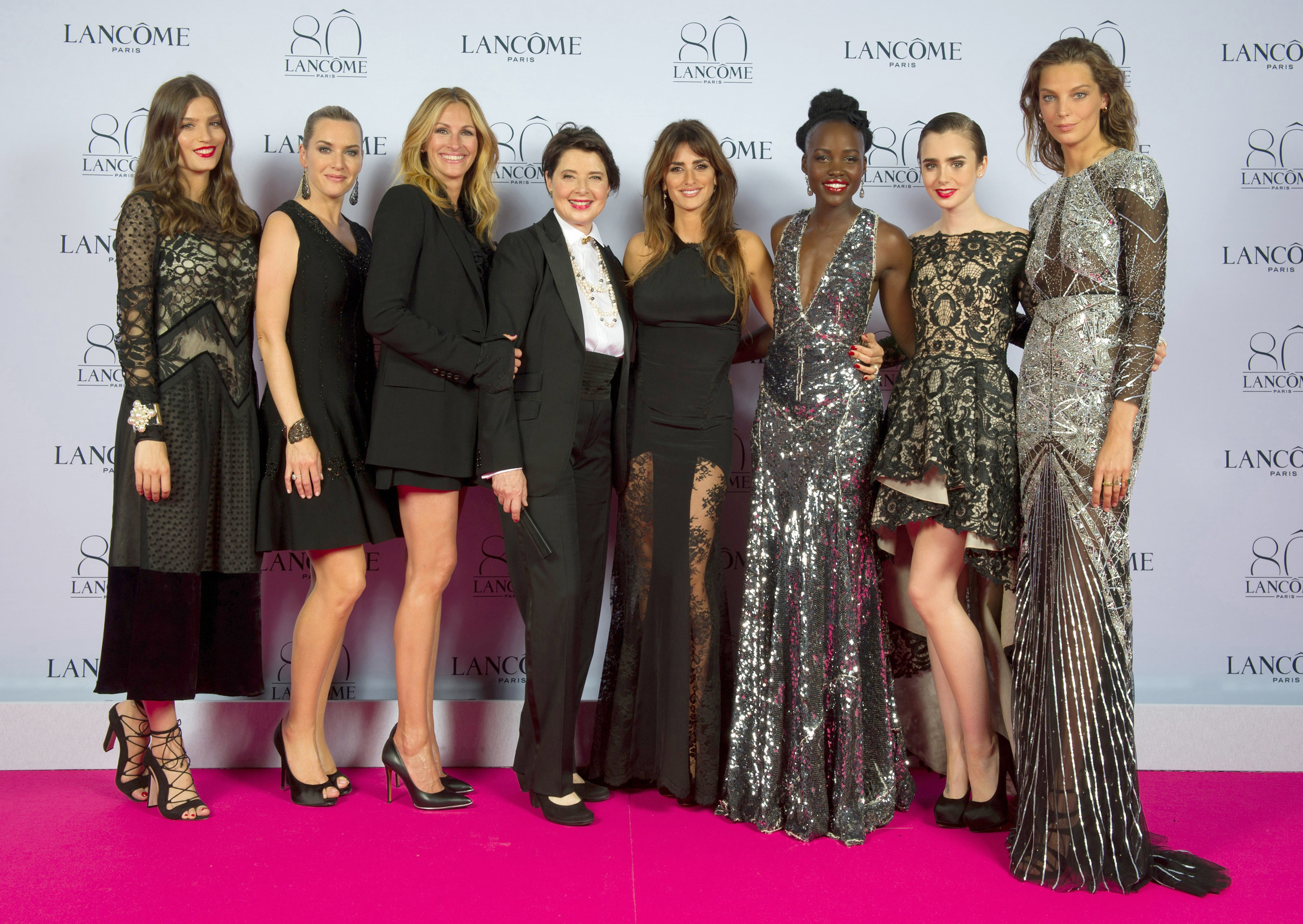 On the red carpet: Alma Jodorowsky, Kate Winslet, Julia Roberts, Isabella Rossellini, Penelope Cruz, Lupita Nyong'o, Lilly Collins, Daria Werbowy