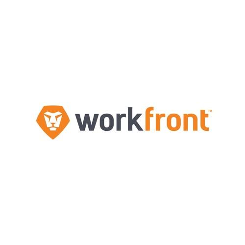 Workfront logo.