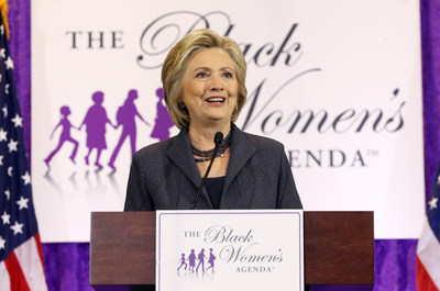 Democratic Presidential Nominee Hillary Rodham Clinton addressed more than 600 participants at The Black Women's Agenda, Inc. 39th Annual Symposium on Friday, September 16, 2016 in Washington, DC. (Paul Morigi/AP Images for The Black Women's Agenda, Inc.)