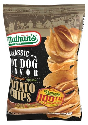 Inventure Foods advances licensed Nathan's Famous(R) snack line with new potato chip featuring flavor of legendary hot dog