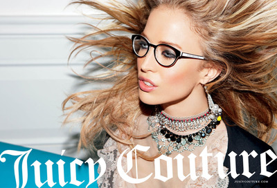 "Juicy Couture launches their new advertising campaign for fall 2011 entitled ""Couture Is Here"". The fresh and bold images are definitely full of ""couture"", with high fashion photographers Inez Van Lamsweerde and Vinoodh Matadin capturing top model Raquel Zimmermann as the playful, flirty, and sophisticated face of Juicy Couture."