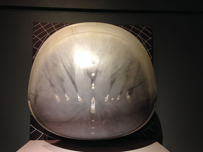 Nose cap from Space Shuttle Columbia on display at Tellus Science Museum.