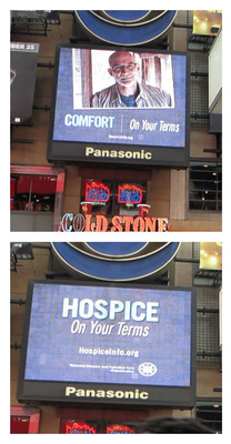 Visitors to Times Square are learning that hospice provides comfort, compassion and dignity to more than 1.5 million people a year.  (PRNewsFoto/National Hospice and Palliative Care Organization)