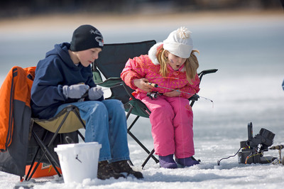 Visit TakeMeFishing.org to learn more about ice fishing!  (PRNewsFoto/The Recreational Boating and Fishing Foundation (RBFF))
