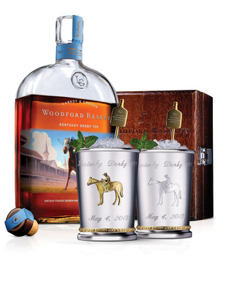 Woodford Reserve introduces $1,000 Mint Julep Cup for the Kentucky Derby.  (PRNewsFoto/Woodford Reserve)