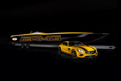 Two visions of design and craftsmanship unveiled side-by-side at the Miami International Boat Show: the all-new 2016 Mercedes-AMG GT S and the Cigarette Racing 50 Marauder GT S Concept.