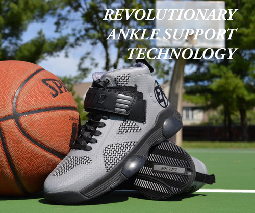"Etkio's ""The Breakaway"" athletic shoes in grey and black. (PRNewsFoto/Ektio Athletic Shoes)"