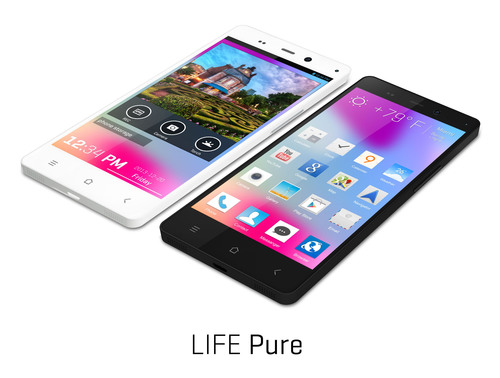 BLU Products introduces LIFE PURE smartphone device, featuring Stunning Design with Flagship Performance. (PRNewsFoto/BLU Products) (PRNewsFoto/BLU PRODUCTS)