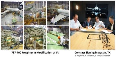 Boeing 737-700 Freighter In Modification & 737NGF Contract Signing