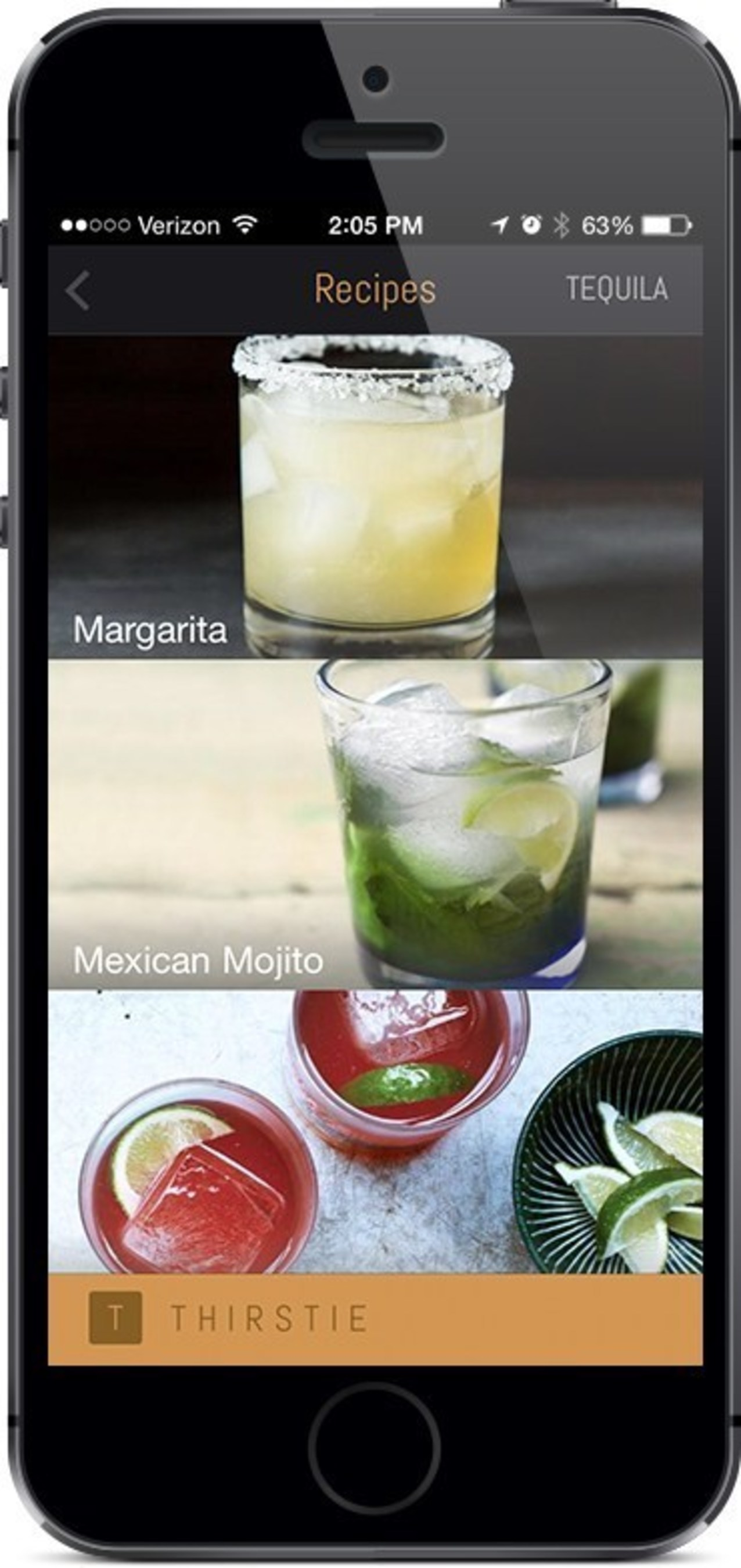 Thirstie Launches First In-App Cocktail Recipe Collection With Foodily (PRNewsFoto/Thirstie)