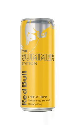 The Red Bull Summer Edition provides the effect of Red Bull with the new flavor of tropical fruits and will be available in July and August at 7-Eleven stores across the U.S. and Canada. (PRNewsFoto/7-Eleven, Inc.)