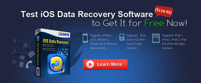 Last 3 Days - Get Free Registration Codes & 75% Discount for Leawo iOS Data Recovery, World's Best iPad/iPhone Data Recovery Software.  (PRNewsFoto/Leawo Software Co., Ltd.)