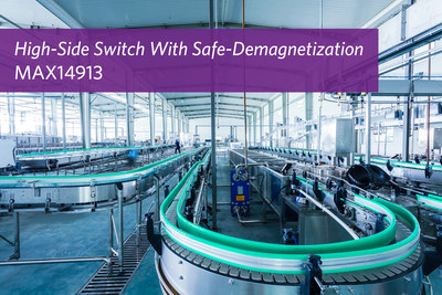 Maxim Integrated's MAX14913 Hi-Side Switch with Safe-Demagnetization