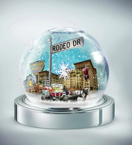 Rodeo Drive celebrates the holidays with a 100% chance of snow on December 9!    (PRNewsFoto/SNOW 90210)