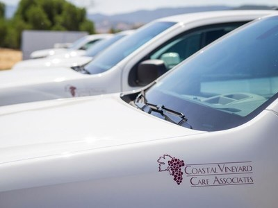 Coastal Vineyard Care Associates employees received new, branded trucks as part of the company's partnership with Enterprise Fleet Management.