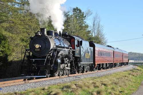Southern Railway locomotive SOU 630, owned and operated by the Tennessee Valley Railroad Museum. ...