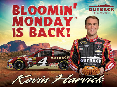 Bloomin' Monday(TM) is Back and Happy at Outback Steakhouse. (PRNewsFoto/Outback Steakhouse) (PRNewsFoto/OUTBACK STEAKHOUSE)