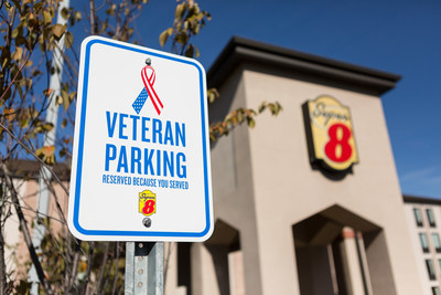 Part of ongoing efforts to support those who serve, Super 8 is introducing Veteran Parking at its nearly 1,800 hotels across the U.S. and Canada. Above, the Super 8 in Mount Laurel, N.J.