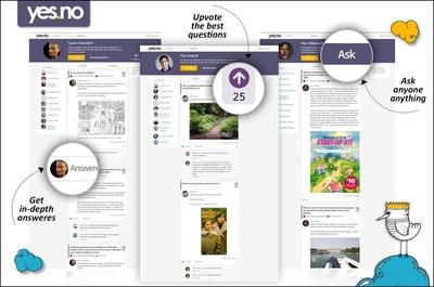 yes.no website screenshots (PRNewsFoto/yes.no) (PRNewsFoto/yes.no)