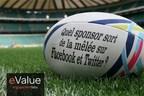 Engagement Labs -  Coupe du monde de Rugby : quel sponsor sort de la melee sur Facebook et Twitter ? (PRNewsFoto/Engagement Labs)