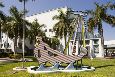 Roy Lichtenstein's Mermaid, 1979. Located on the Lawn Fillmore Theater, N.W. corner Washington Avenue and 17th Street. (Photo Credit: City of Miami Beach)