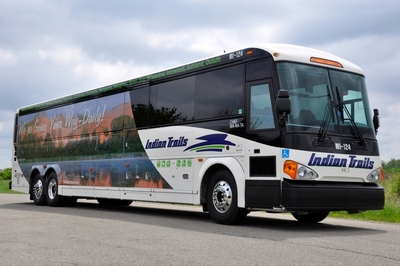"One of eight new ""Pure Michigan"" motorcoaches that Indian Trails, Inc., and the Michigan Department of Transportation are rolling out on daily scheduled routes throughout Michigan and into Chicago, Duluth and Milwaukee. The buses--which will be seen by hundreds of thousands of people a year--are sure to turn heads, boost ridership, and attract more tourists to Michigan."