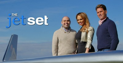 "The Jet Set Hosts: Bobby Laurie, Jessica Reyes & Gailen David at ""The Wing Desk"""