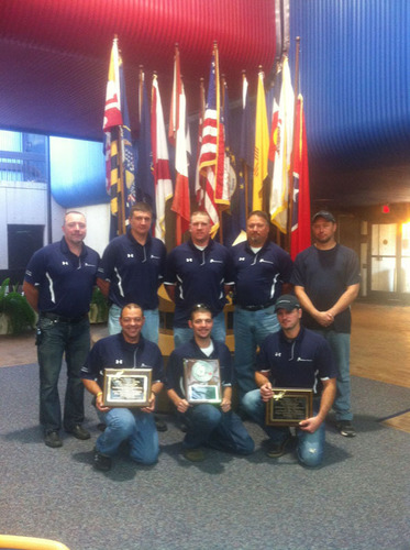 Alpha Natural Resources' Kingston White team wins at mine rescue skills contest.  (PRNewsFoto/Alpha Natural Resources)