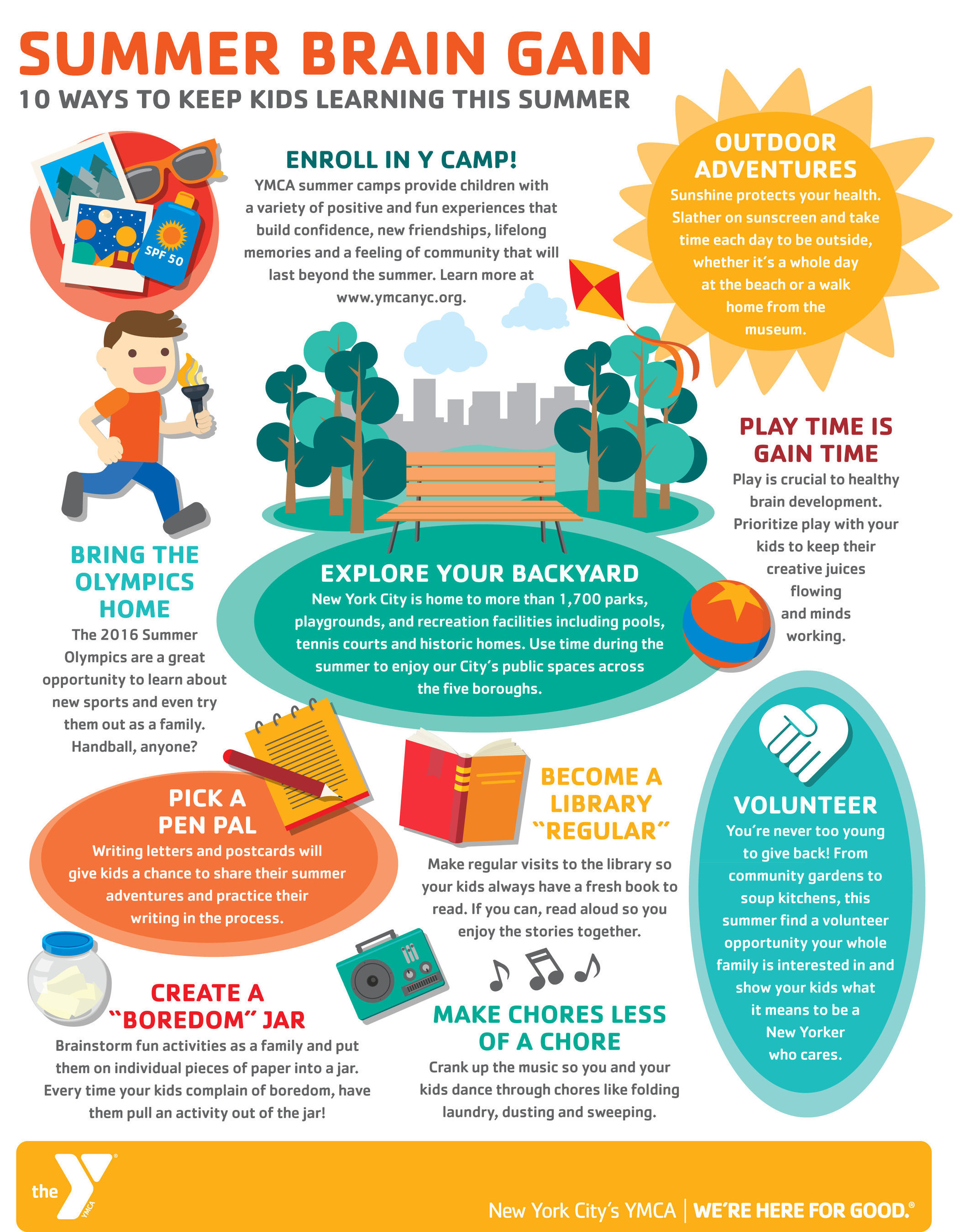 Summer Brain Gain - 10 Ways to Keep Kids Learning This Summer