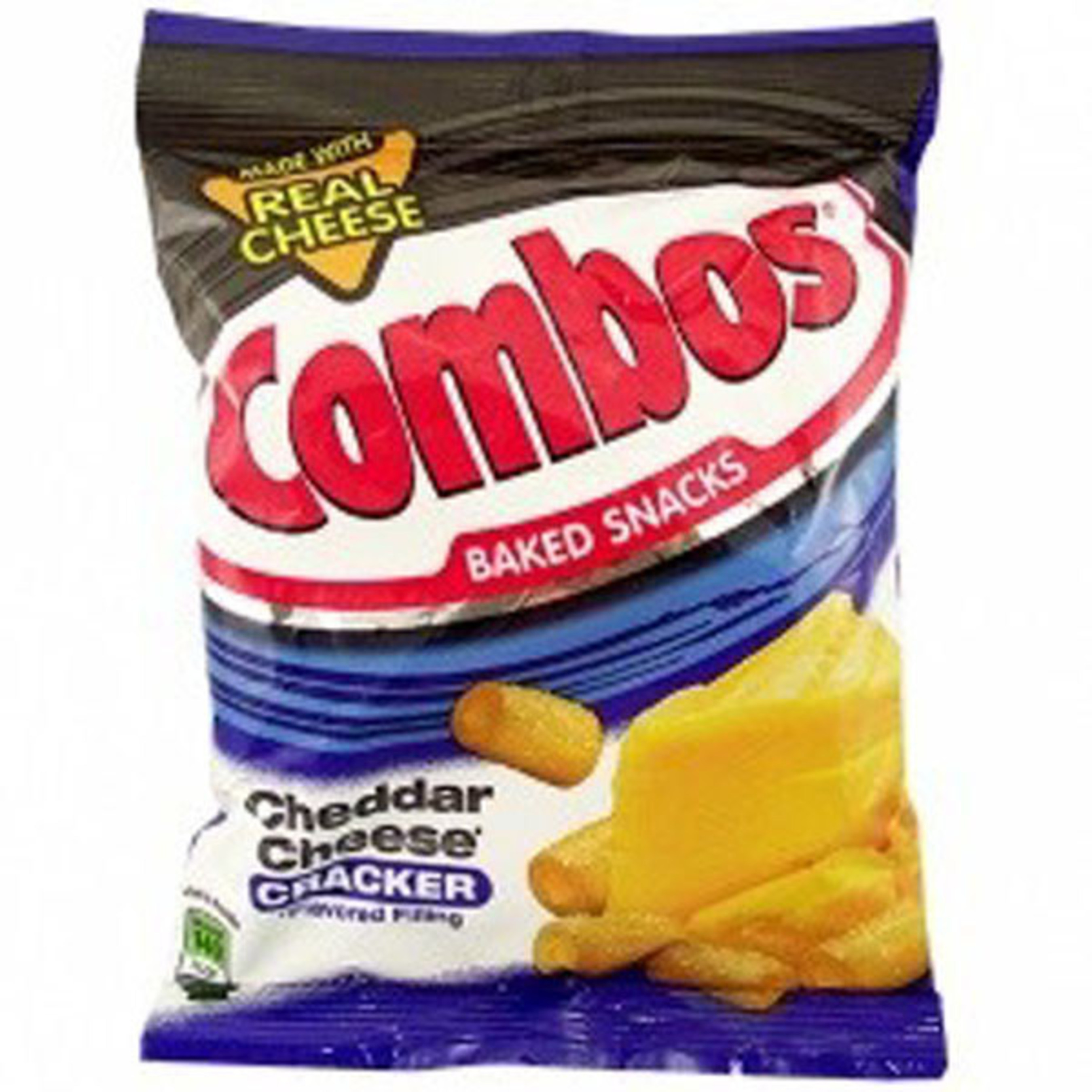 COMBOS CHEDDAR CHEESE CRACKER - FAMILY PEG PACK - 6.3 OZ - 12/CA