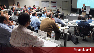 Raymond Levitt, a professor of Civil and Environmental Engineering at Stanford University, teaches the Strategic Execution Framework to participants in the two and a half day professional course held at Stanford, Converting Strategy Into Action.