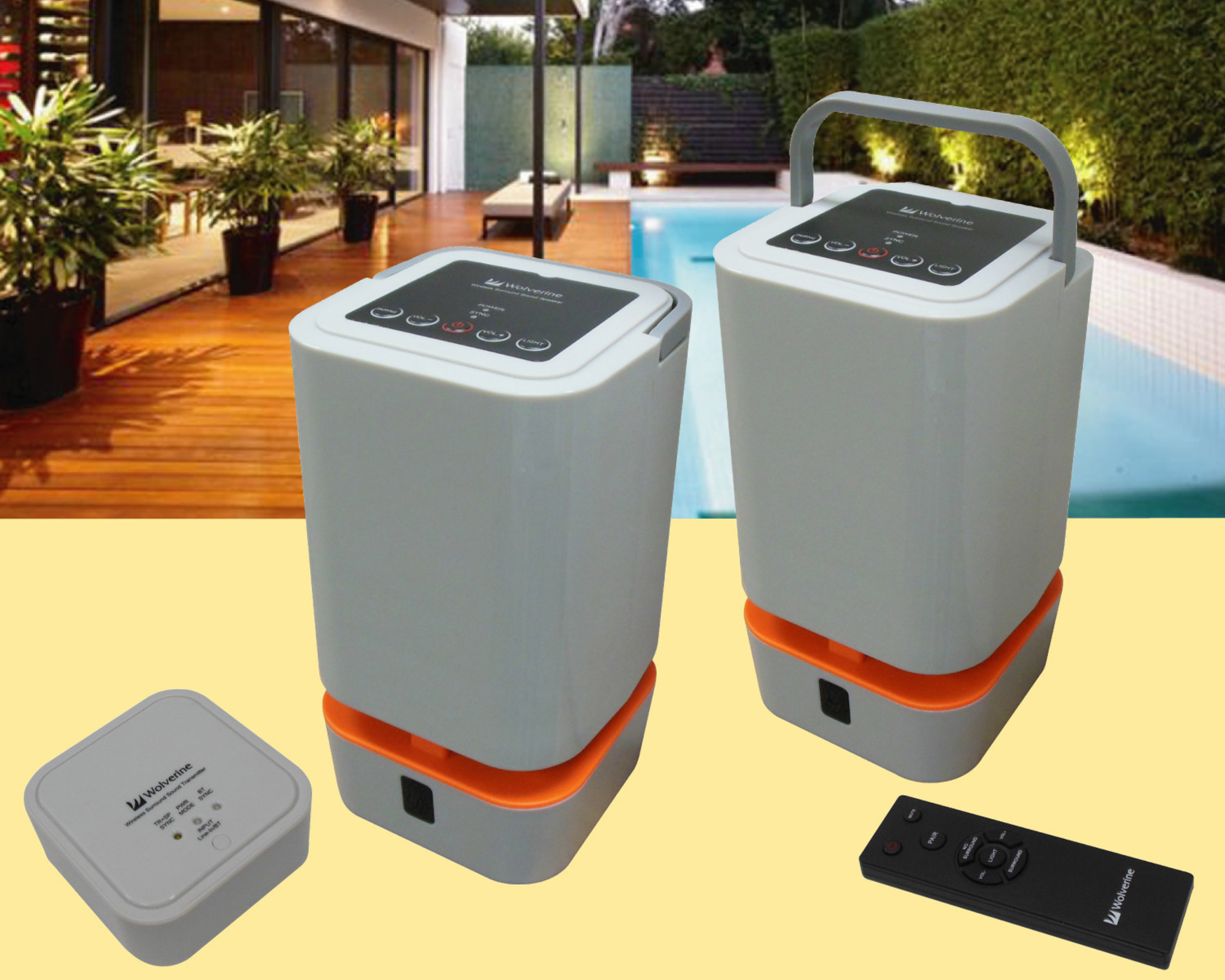 WIOS-5.8 Indoor/Outdoor Wireless Speaker System From Wolverine Data Creates Big Sound in Small, Portable Package