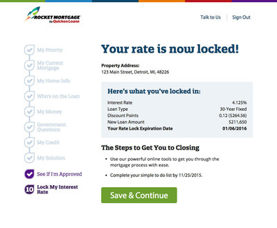Rocket Mortgage users can lock their rate completely online