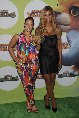 Dascha Polanco and Laverne Cox Attend The Launch Of Dino Tales And Safari Tales At The American Museum Of Natural History With Kuato Studios