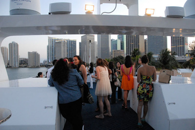 Guests onboard the The Venetian Lady enjoy McDonald's Chill Evening at Sea soiree. || Los invitados a bordo del yate The Venetian Lady disfrutan de la fiesta en alta mar de McDonald's.   (PRNewsFoto/McDonald's USA, LLC)