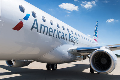 American Airlines begins large regional jet flying with Embraer E-175 aircraft.  (PRNewsFoto/American Airlines)