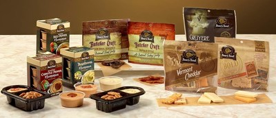 Boar's Head Premium Hummus Snack Packs, Cheese Pouches and All Natural Jerky.