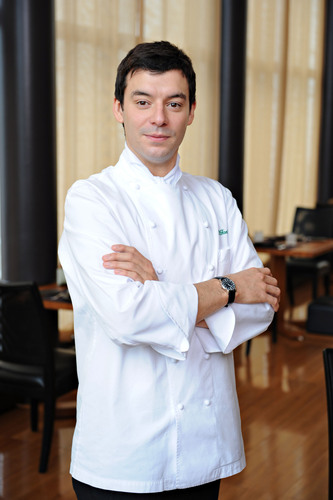 Chef Luca Fantin, a star in Tokyo's culinary world, will be a guest chef aboard Crystal Cruises' ...