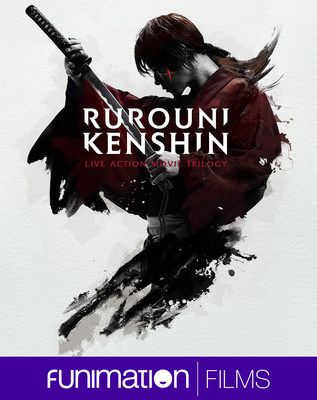 """Rurouni Kenshin"" film trilogy theatrical art. Courtesy of Funimation Films."