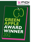ZMDI, a Global Semiconductor Company, is honored to be a recipient of an Environmental Best Practice 2012 Award at this year's Green Apple Awards ceremony at the Palace of Westminster, London