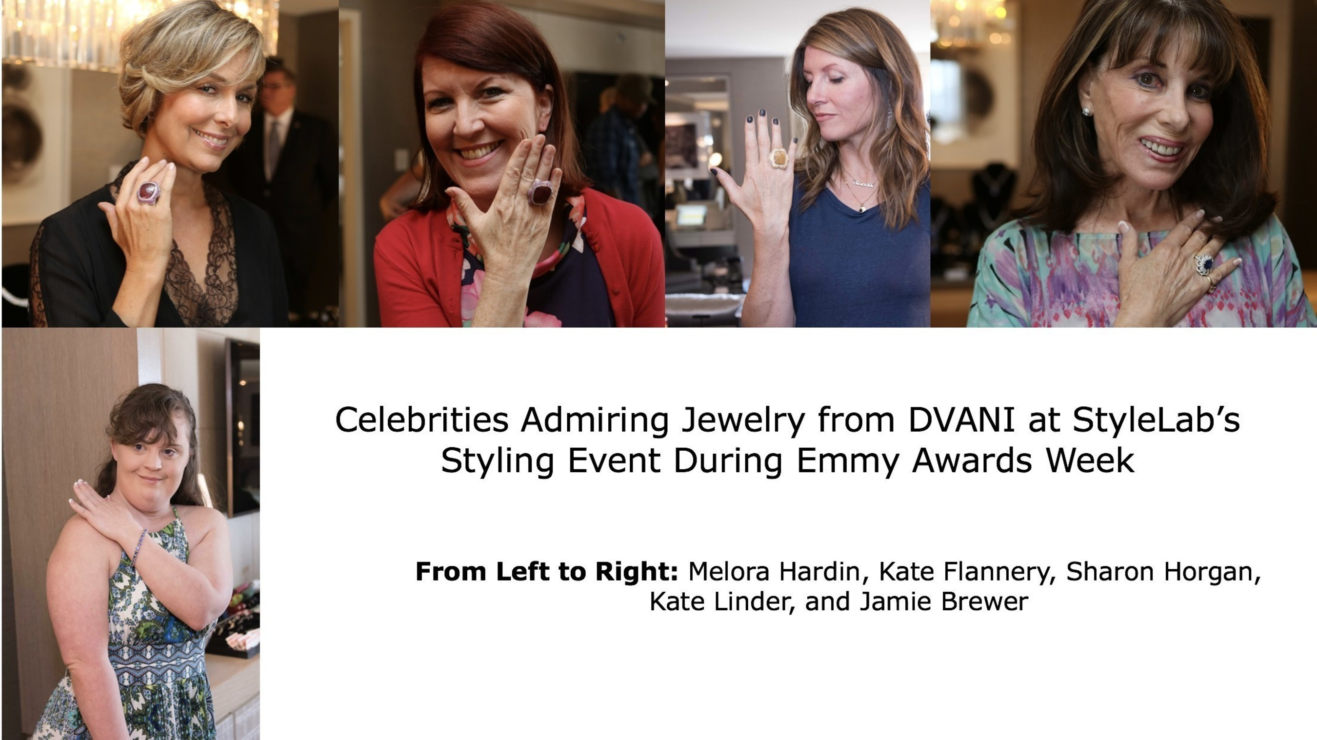 Celebrities Previewed Jewelry From DVANI At StyleLab's Styling Event During Emmy Awards Week