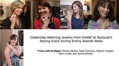 Celebrities Admiring Jewelry from DVANI at StyleLab's Styling Event During Emmy Awards Week