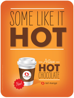 Red Mango introduces Artisan Hot Chocolate.  (PRNewsFoto/Red Mango)