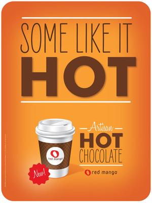 Red Mango introduces Artisan Hot Chocolate.  (PRNewsFoto/Red Mango)