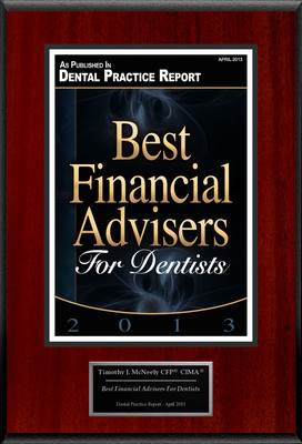 "Timothy J. McNeely CFP(R) CIMA(R) Selected For ""Best Financial Advisers For Dentists"".  (PRNewsFoto/American Registry)"