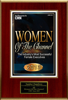 """Sandra Chambers Selected For """"2013 Women Of The Channel"""".  (PRNewsFoto/American Registry)"""