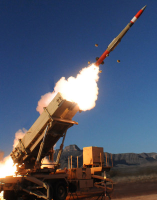 A Lockheed Martin PAC-3 MSE missile blasts out of its launcher en route to an airborne target intercept during a test at White Sands Missile Range, N.M.