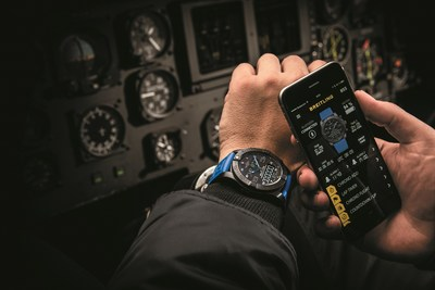 In creating its first connected chronograph, Breitling has utilized the smartphone to aid in the functions of the watch in order to enhance its user-friendliness. Two-way communication via Bluetooth technology enables the two instruments to form a perfectly complementary pair in which each is used for what it does best.