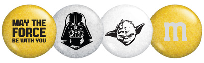 MY M&M'S(R) releases Star Wars-themed MY M&M'S chocolate candies to celebrate 'May the 4th'. Products include special M&M'S blends featuring well-known Star Wars phrases and characters, like Darth Vader and Yoda, along with unique merchandise like candy dispensers, favor tins, gift boxes and more (PRNewsFoto/Mars Retail Group)