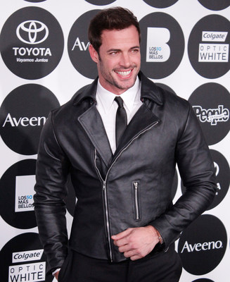 Actor William Levy wears the Toyota Camry inspired leather jacket on the red carpet for People en Espanol's Los 50 Mas Bellos on Tuesday, May 12, 2015. El actor William Levy lucio una chamarra de piel inspirada en el Toyota Camry 2015 en la alfombra roja durante el evento de Los 50 Mas Bellos de People en Espanol el martes, 12 de mayo, 2015.